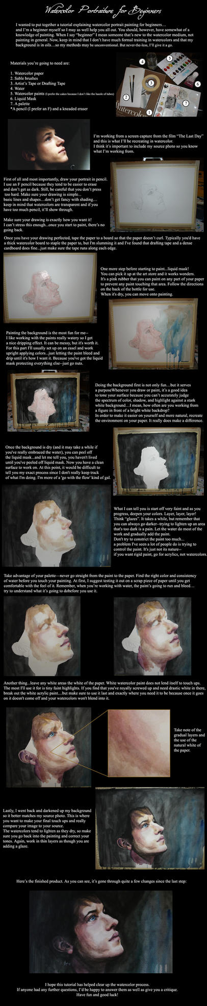 Watercolor Portraiture by hever
