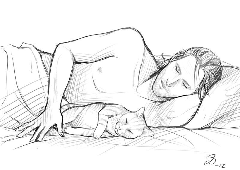 Dragon Age - Sleepy Kitties by YumiKoyuki