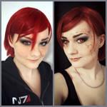 Mass Effect - Commander Shepard Makeup Test