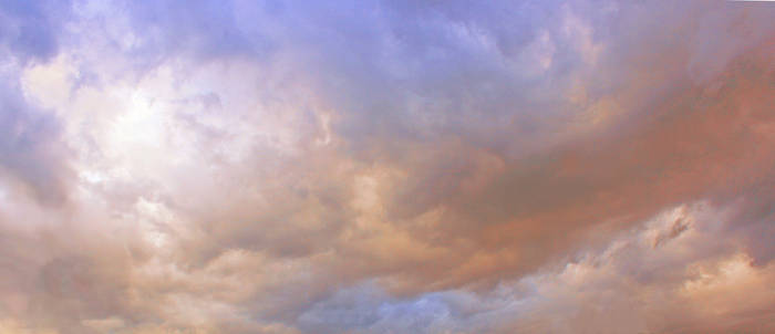 Stormy pink clouds