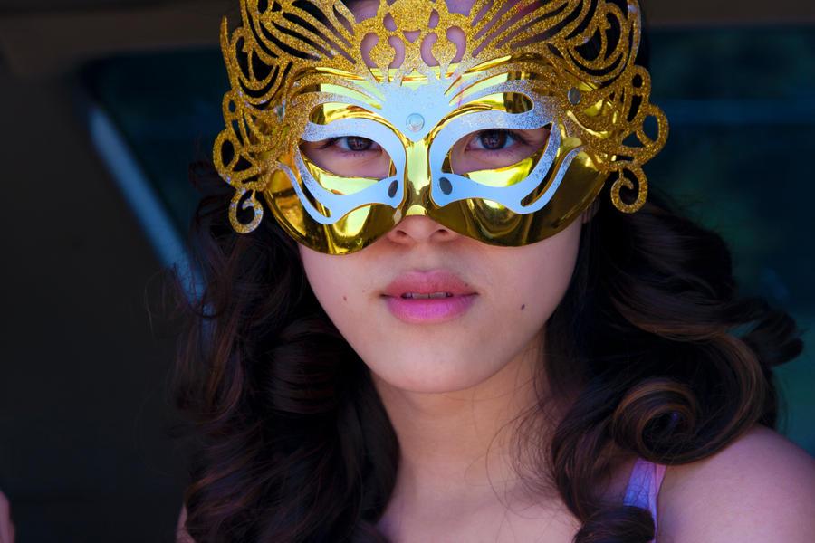 Masked woman by CathleenTarawhiti
