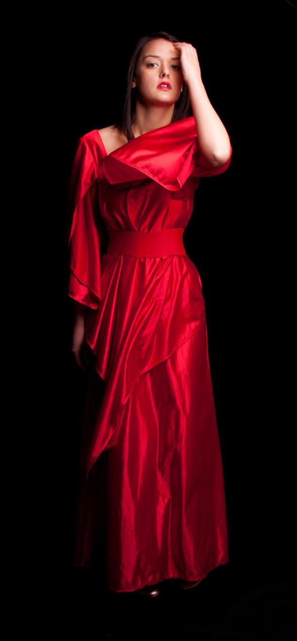 Beautiful Woman Photograph  Woman In Red Dress By The Sea By Bernardo Villar