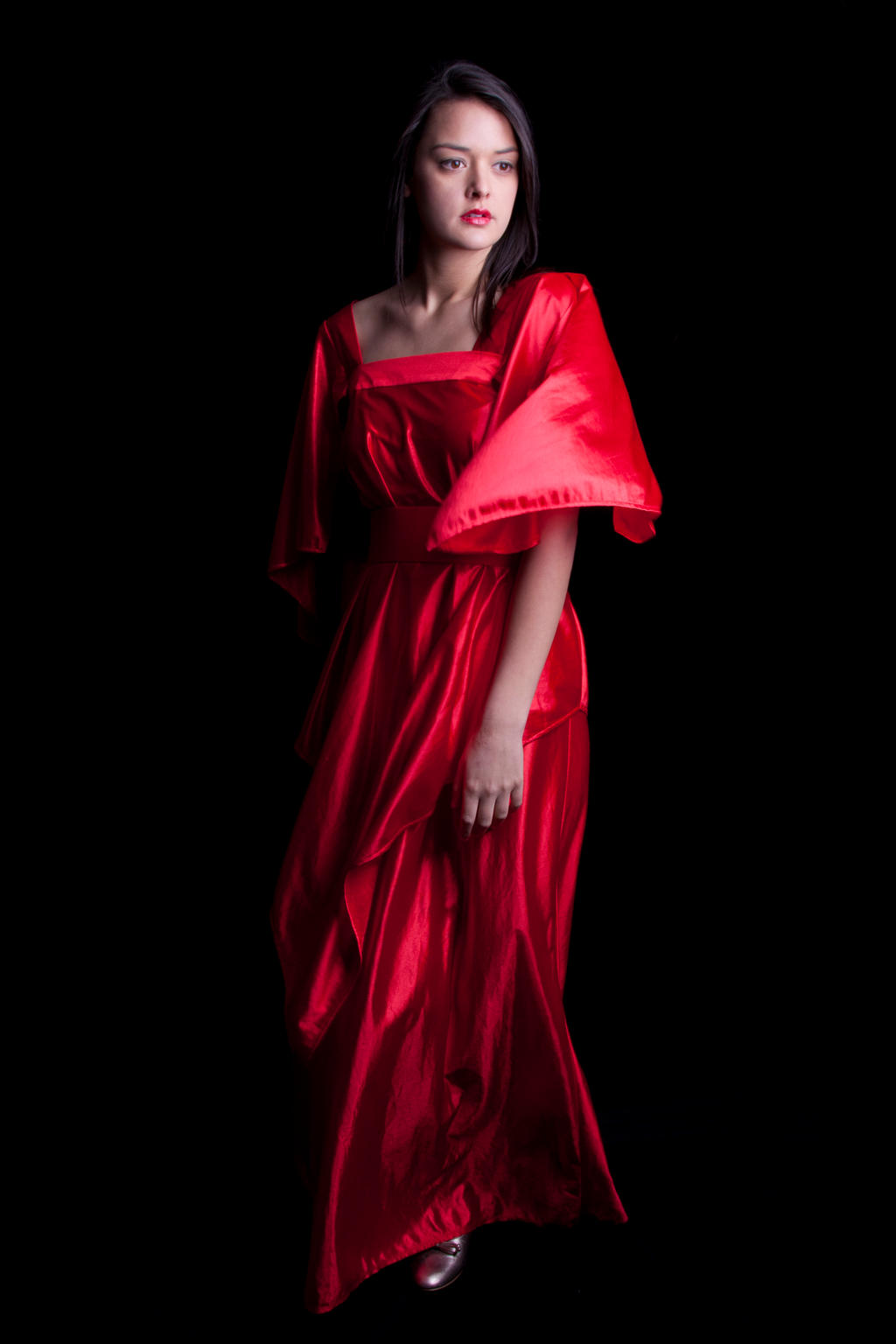 Woman in a red dress 8 by CathleenTarawhiti