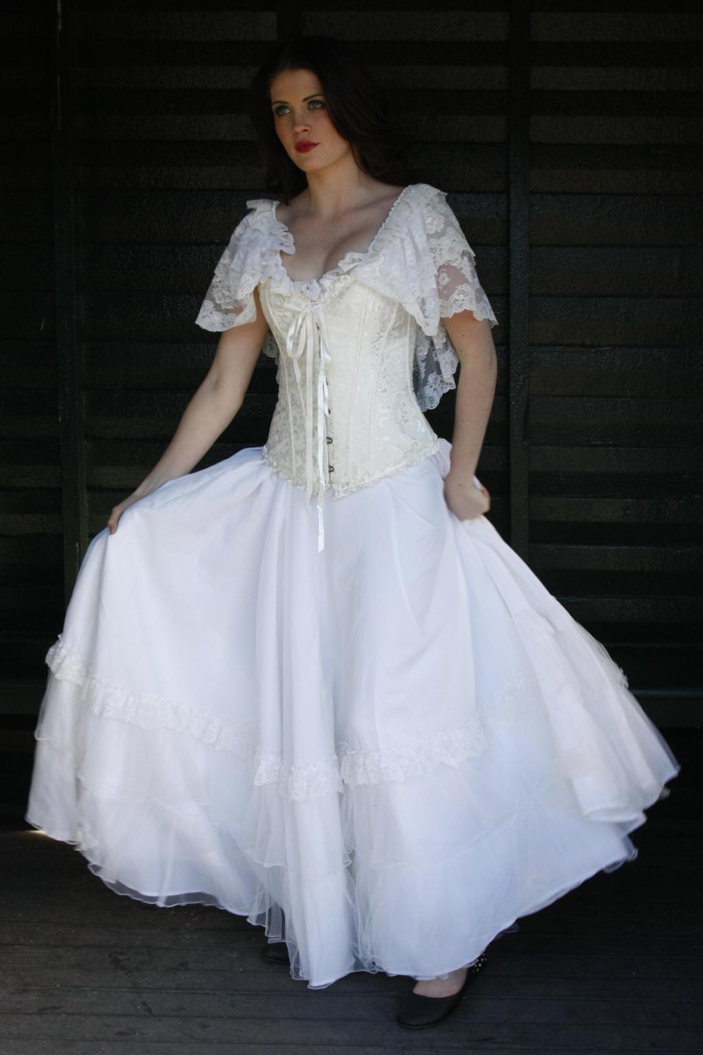 Danielle white dress 3 by CathleenTarawhiti