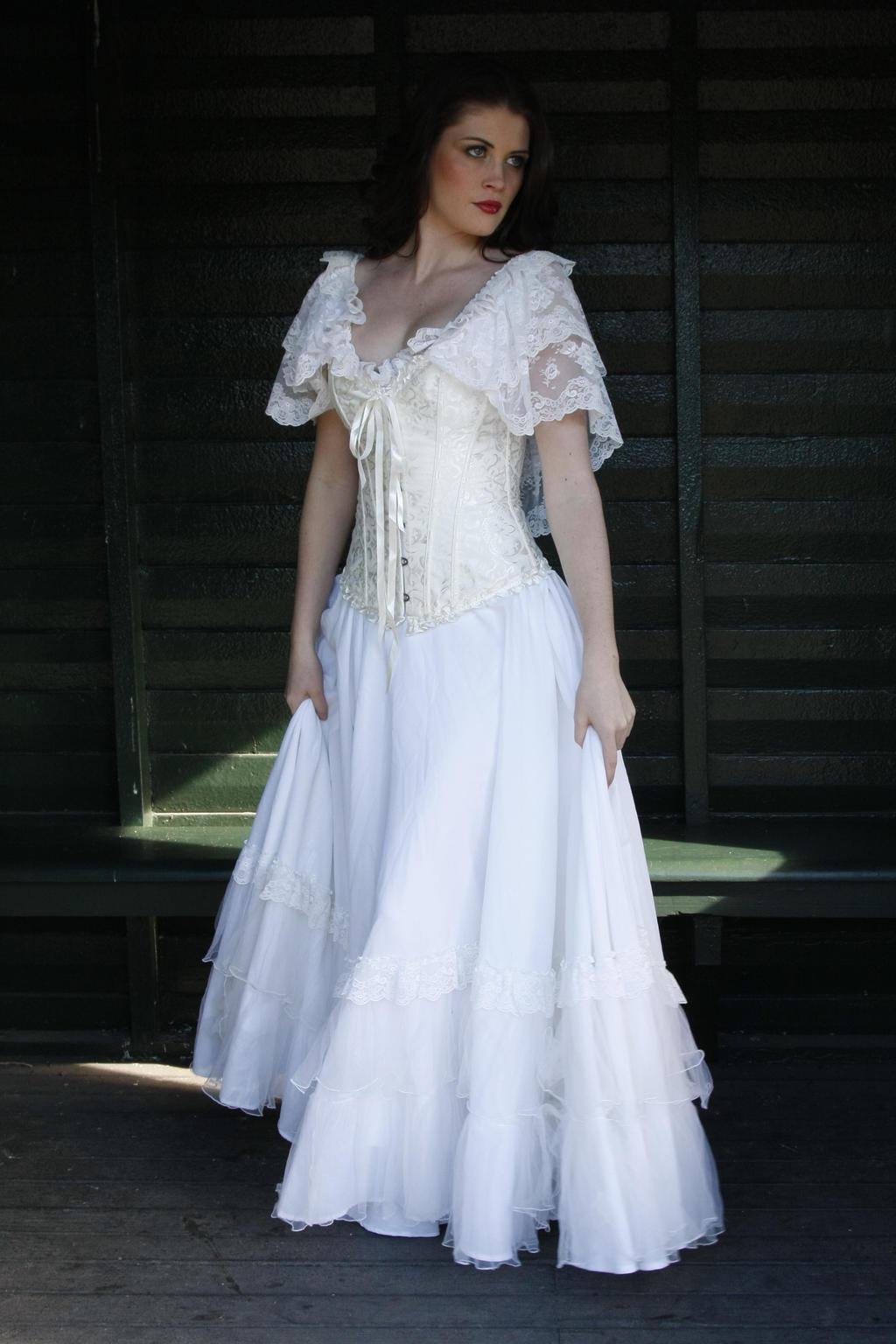 Danielle white dress 5 by CathleenTarawhiti