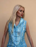 Georgia blue dress 3 by CathleenTarawhiti
