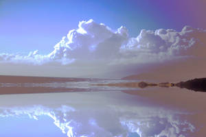 Cloud reflection stock