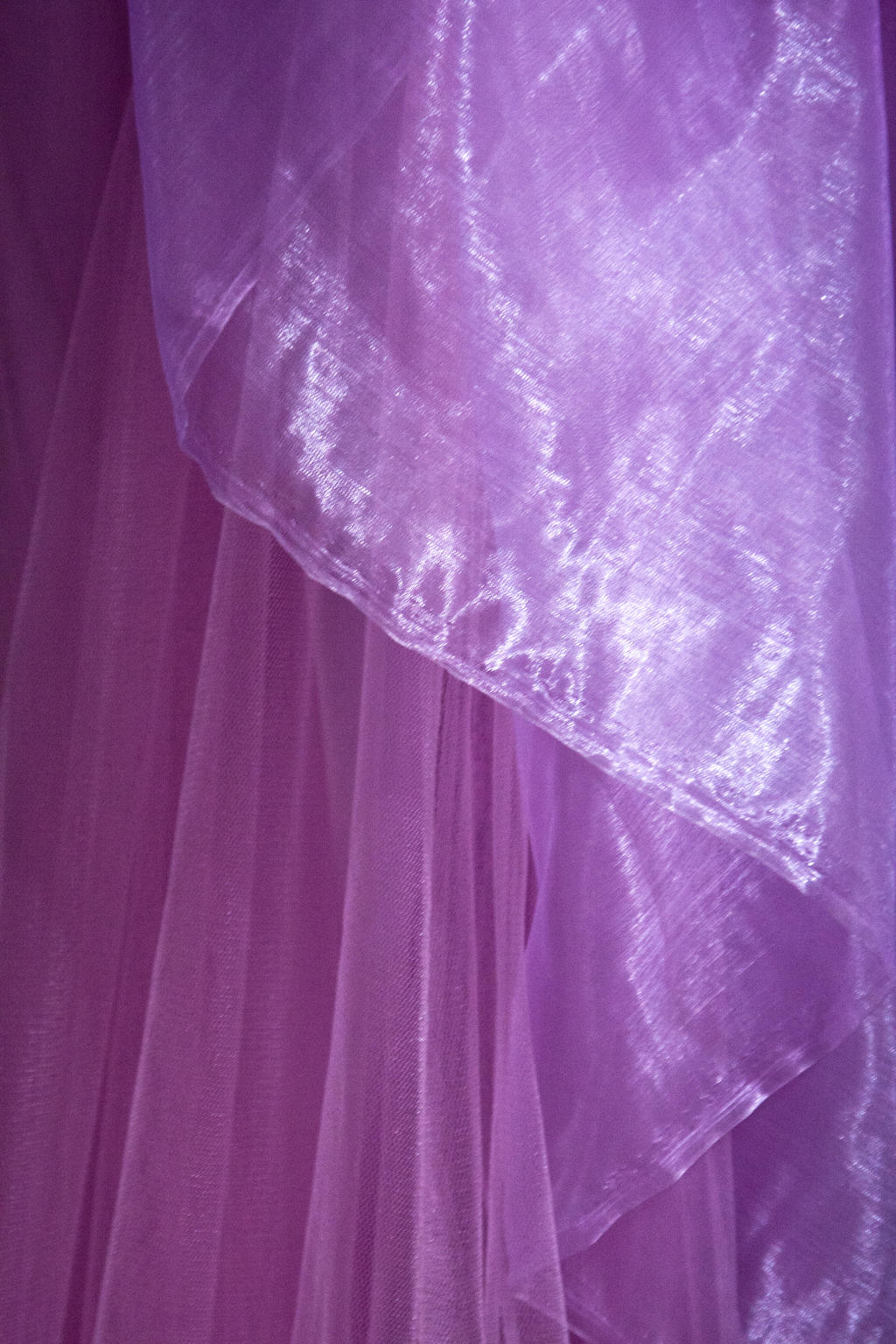 Purple tulle material fabric stock