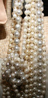 Pearl necklace stock