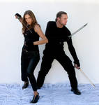 Couple fighting poses 1 psd and jpeg