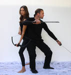 Couple fighting poses 11