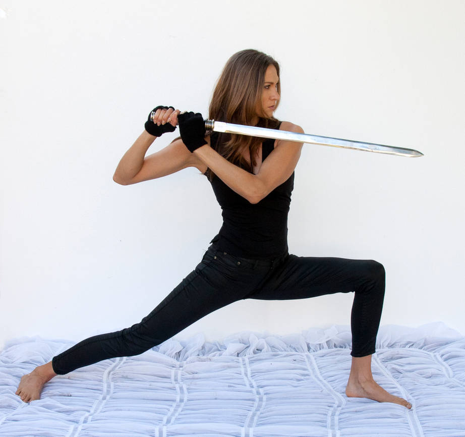 Action pose woman 18 by cathleentarawhiti