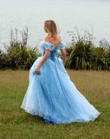 Aleida blue dress 2 by CathleenTarawhiti