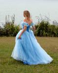 Aleida blue dress 2
