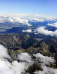 Aerial - South Island Mountains, New Zealand 3 by CathleenTarawhiti