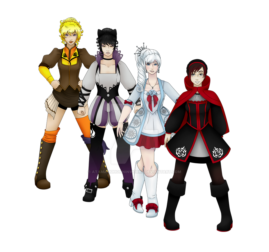 RWBY Historic Fashion by AtamaMuhonninWorks on DeviantArt