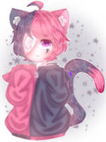 Pink and Black Neko ( AT ) by giovani13