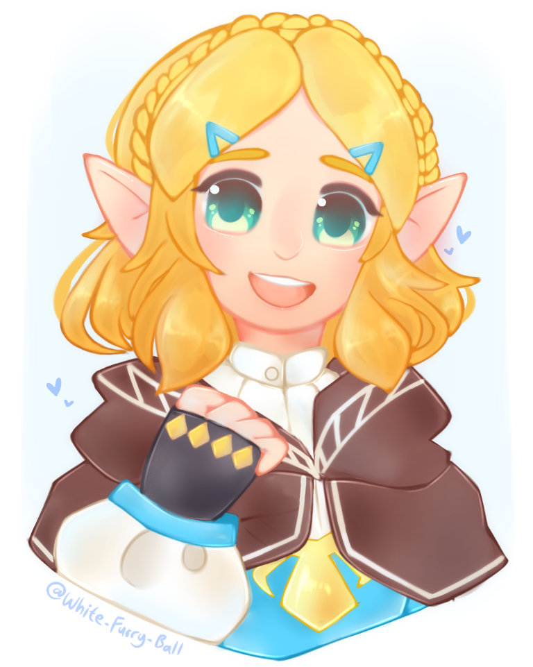 Short Hair Zelda Botw Fanart By Giovani13 On Deviantart