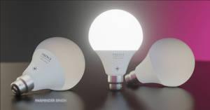 LED Bulb 3D Render