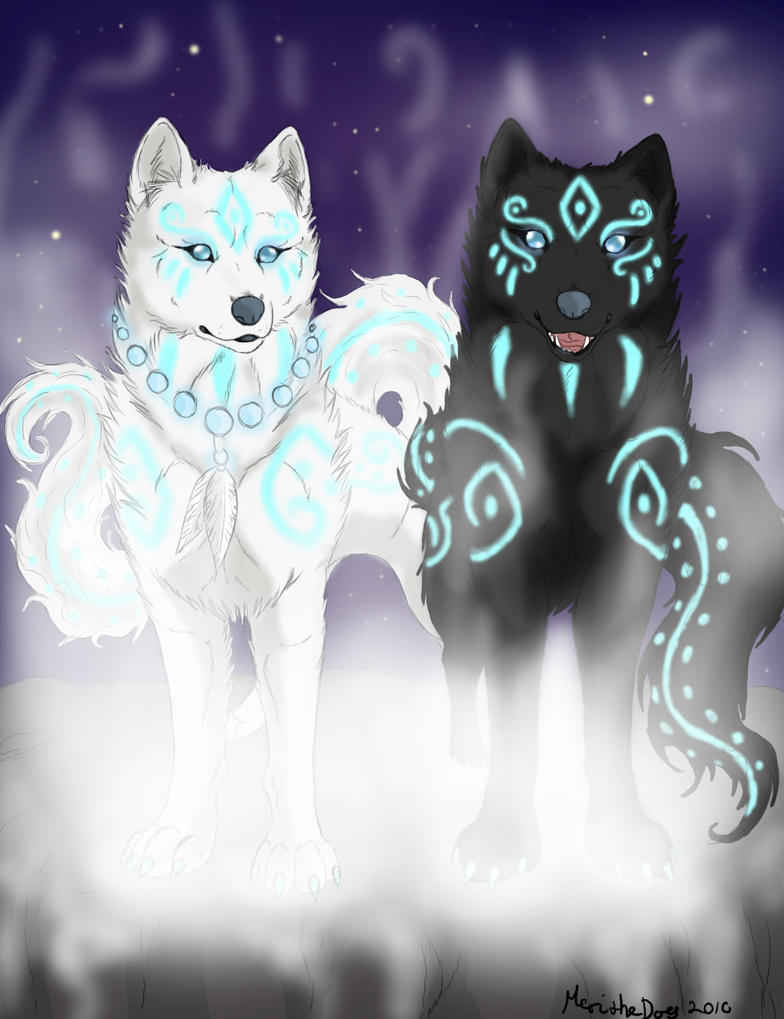 ..:Shirokami and Kurokami:.. by Meri-theDog