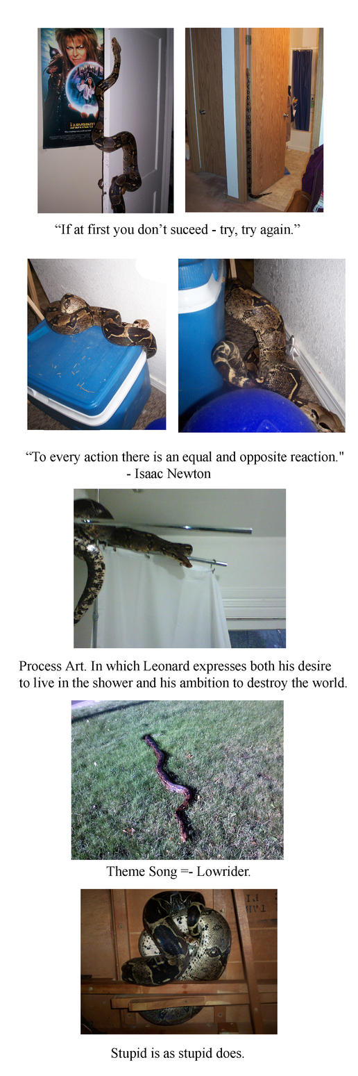 Adventures of Big Dumb Snake by supremetechgoddess