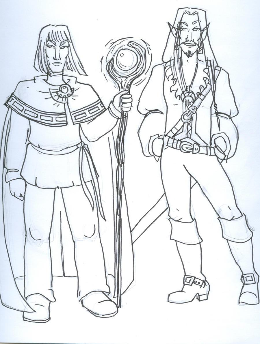 Xellos and Elhil by supremetechgoddess
