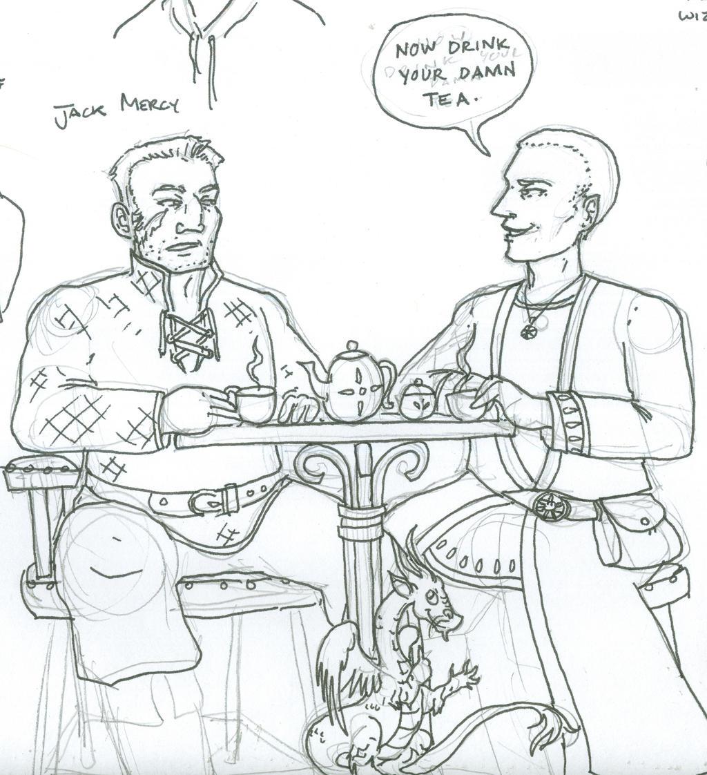 Mercy and Master Benedict by supremetechgoddess