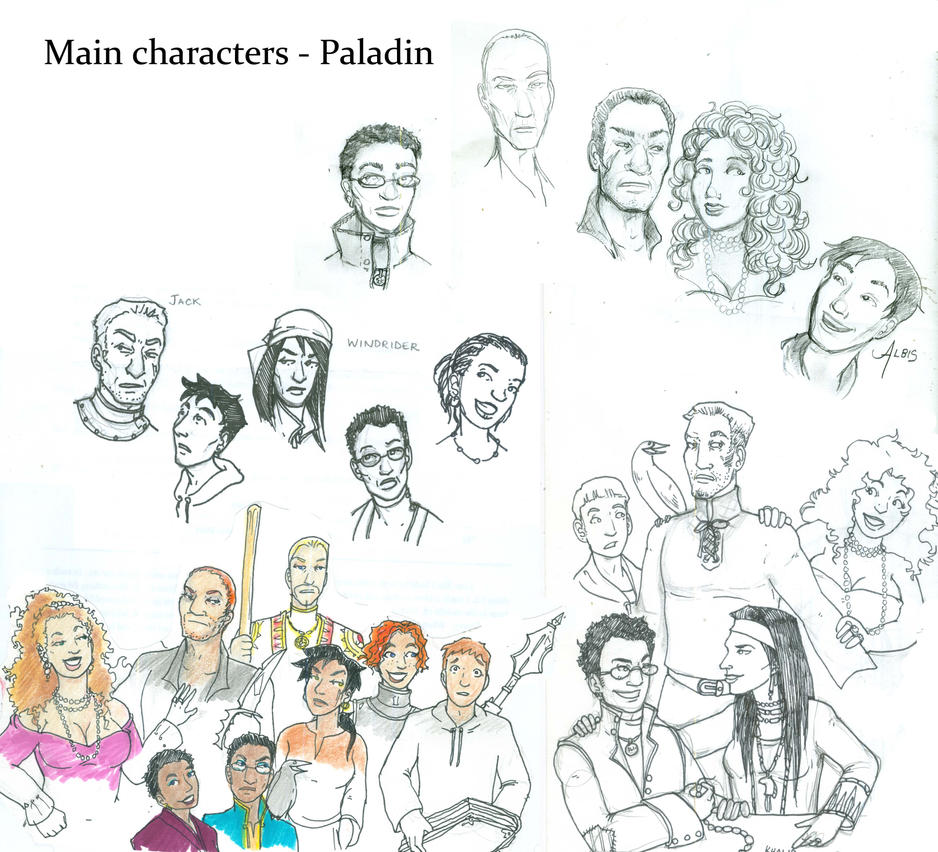 Paladin Characters by supremetechgoddess