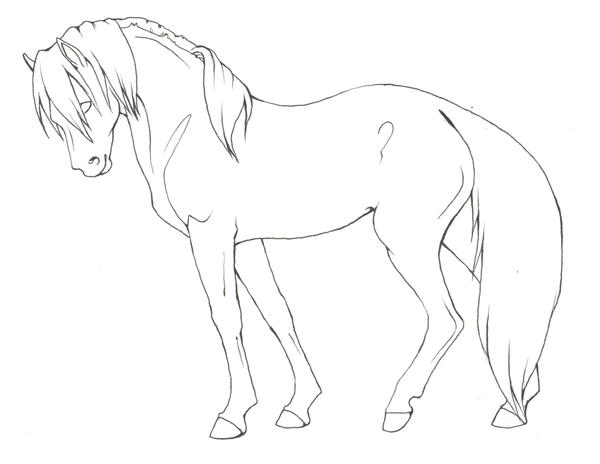 Simple Horse Lineart : Virtualhorseranch view topic missing phoenix