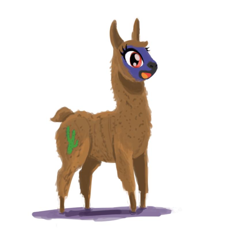 My Little Llama by DarkKodKod