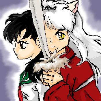 Inuyasha and Kagome by Aleka