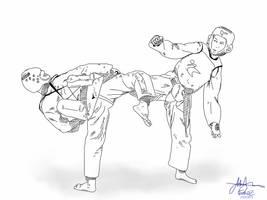 iPad Art - Taekwondo