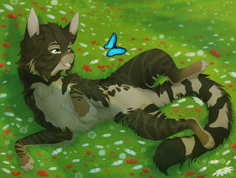 [Completed YCH] - Wallow in the grass
