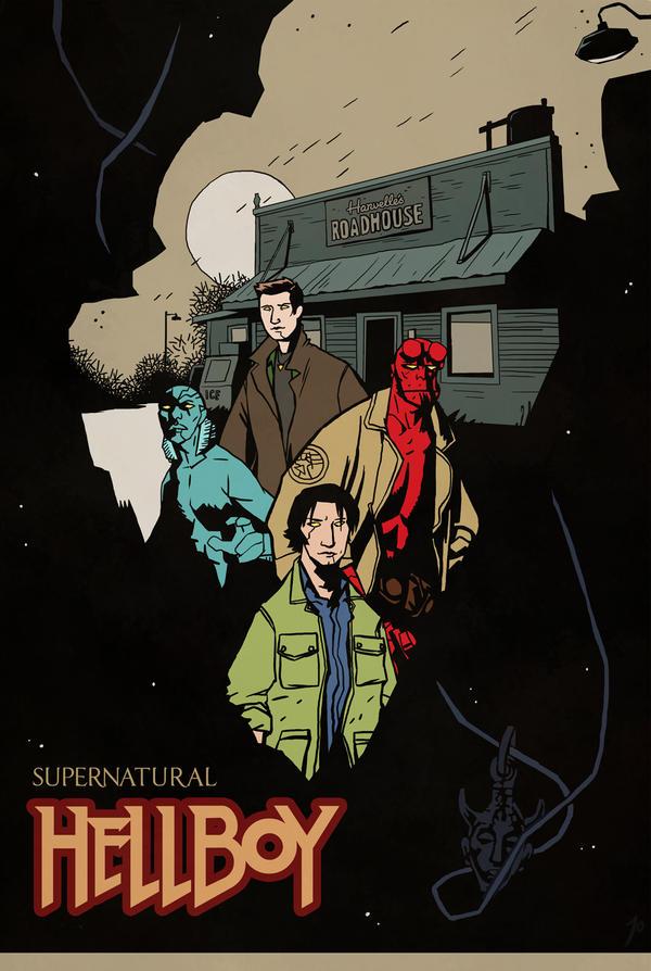 SPN - Hellboy crossover by JoannaJohnen