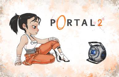 Portal 2 - Oh Wheatley by JoannaJohnen