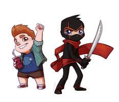 9th Grade Ninja Chibis by JoannaJohnen