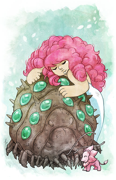 Steven Universe Sketch Rose: Rose Quartz Of The Valley Of The Wind By JoannaJohnen On
