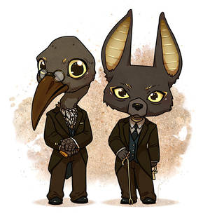 Mr Ibis and Mr Jacquel - American Gods