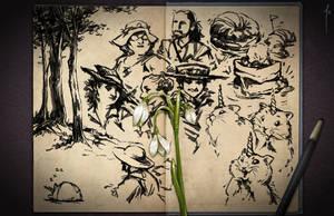 Jester's Sketchbook - spread 06 by JoannaJohnen