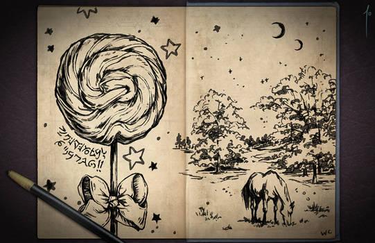 Jester's Sketchbook - spread 07 by JoannaJohnen