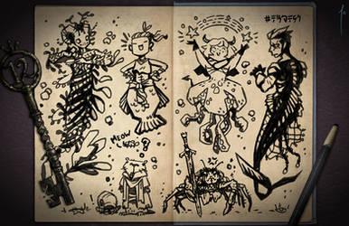 Jester's Sketchbook - spread 12 by JoannaJohnen