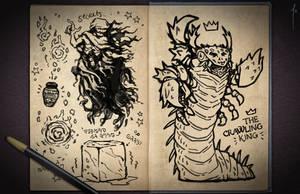 Jester's Sketchbook - spread 19 by JoannaJohnen