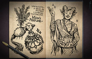 Jester's Sketchbook - spread 21 by JoannaJohnen