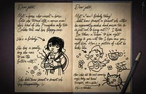 Jester's Sketchbook - spread 30 by JoannaJohnen