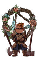 Flowers for Keg the Dwarf by JoannaJohnen
