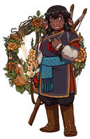Flowers for Nila the Firbolg by JoannaJohnen
