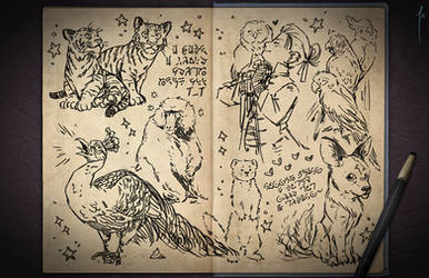 Jester's Sketchbook - spread 34