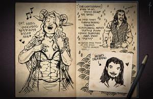 Jester's Sketchbook - spread 36 by JoannaJohnen