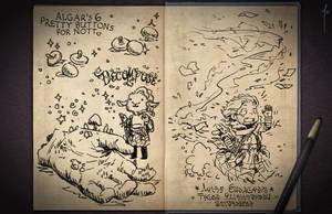 Jester's Sketchbook - spread 38 by JoannaJohnen