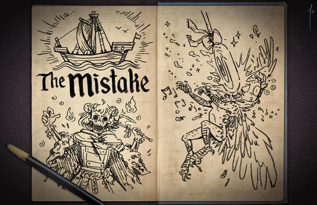 Jester's Sketchbook - spread 39 by JoannaJohnen